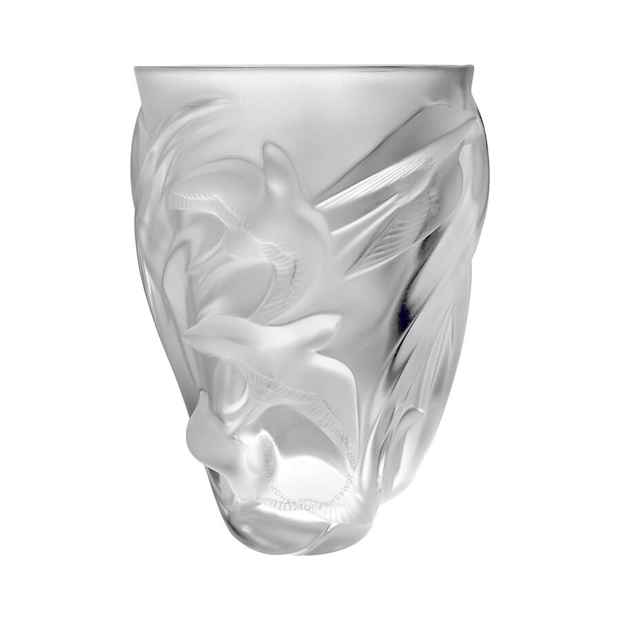 lalique crystal vase martinets 12308 - Lalique Vase