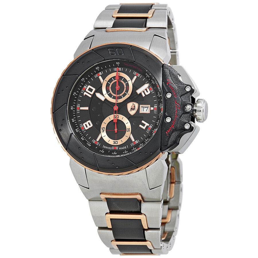 Lamborghini Brake Black Dial Mens Chronograph Watch B-9