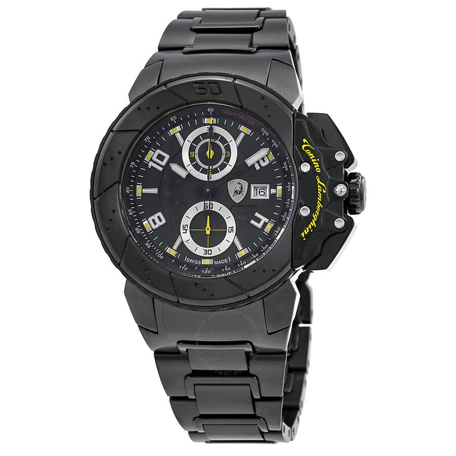 Lamborghini Brake Black Disc Dial Mens Chronograph Watch B-4