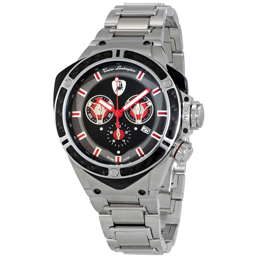 Lamborghini Spyder 3300 Matt Dark Grey Dial Mens Chronograph Watch 3307