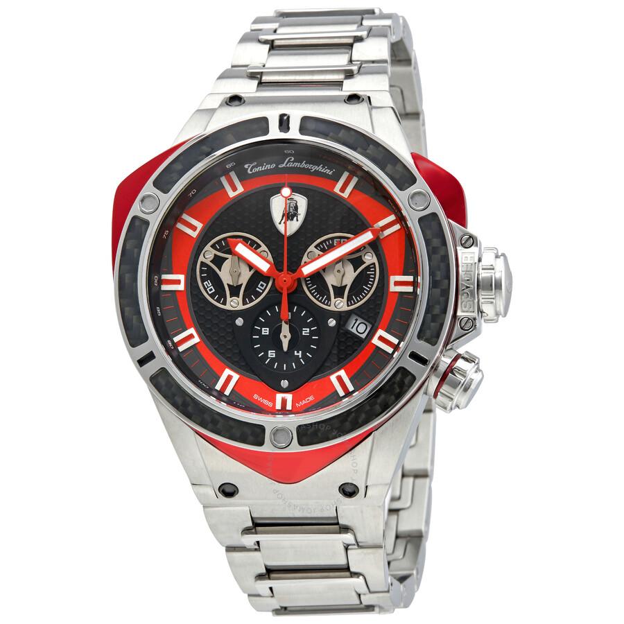 Lamborghini Spyder 3300 Matte Dark Grey Dial Mens Chronograph Watch 3309