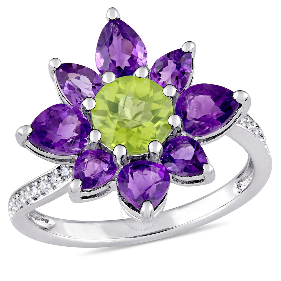 Laura Ashley English Garden Flower Ring in Sterling Silver Size 5 JMS004057-..