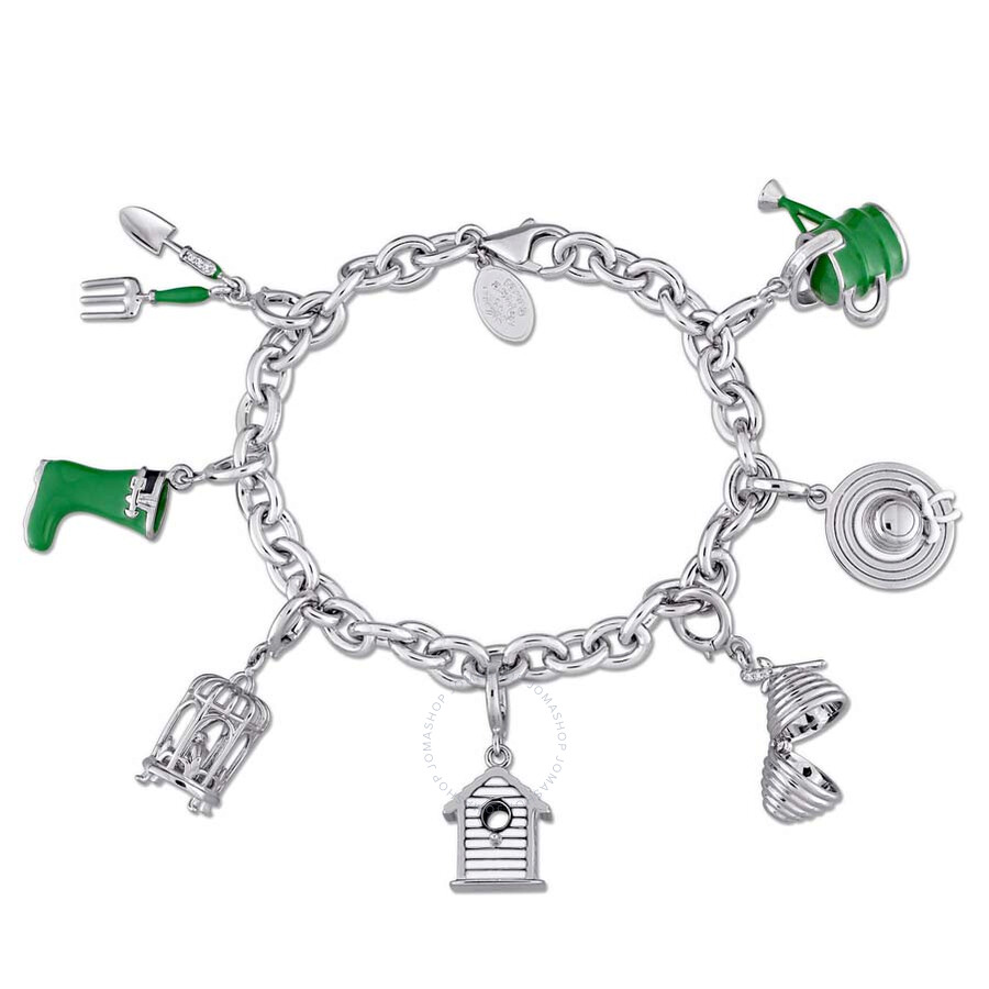 Laura Ashley Garden Collection Created White Sapphire Accent Charm Bracelet ..