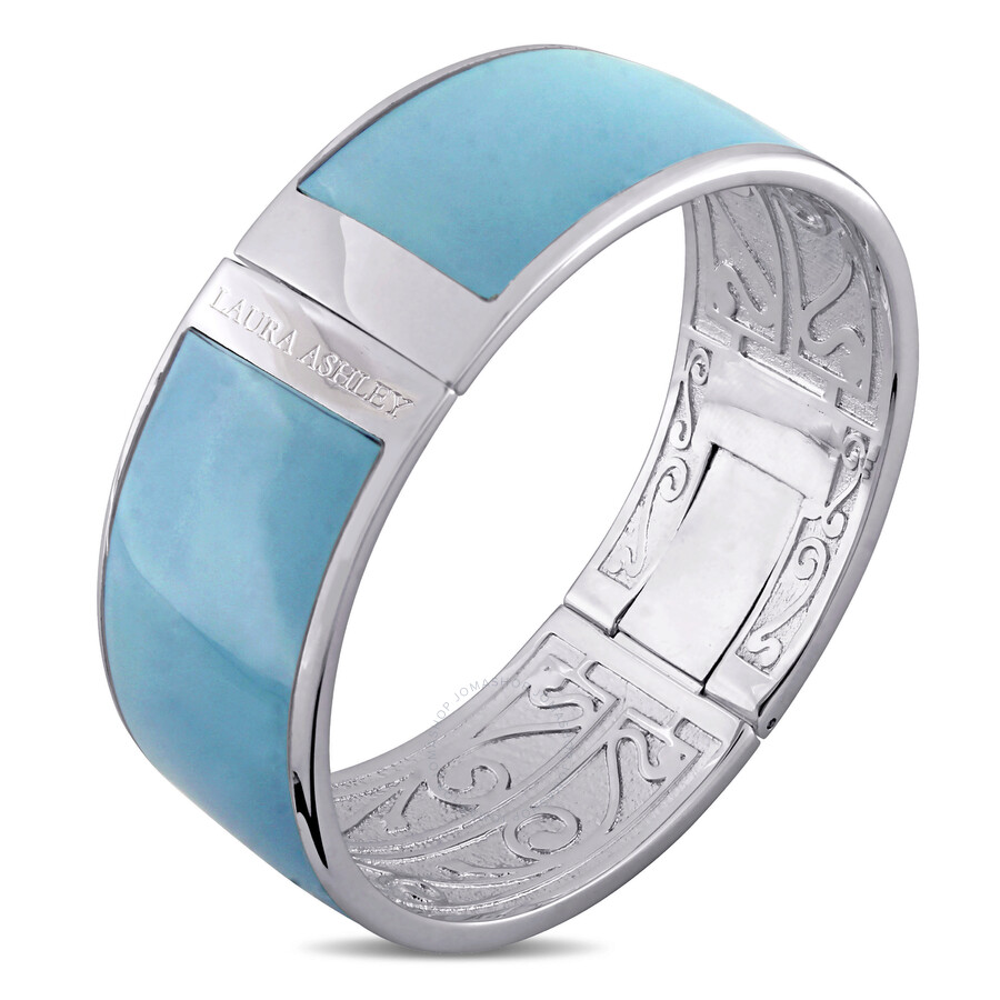 Laura Ashley Light Blue Enamel Bangle JMS004107