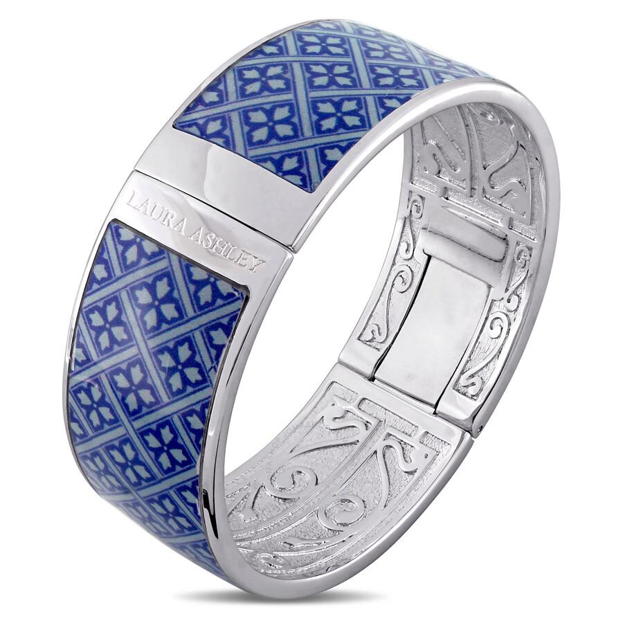 Laura Ashley Vintage Design Blue Enamel Bangle JMS004108