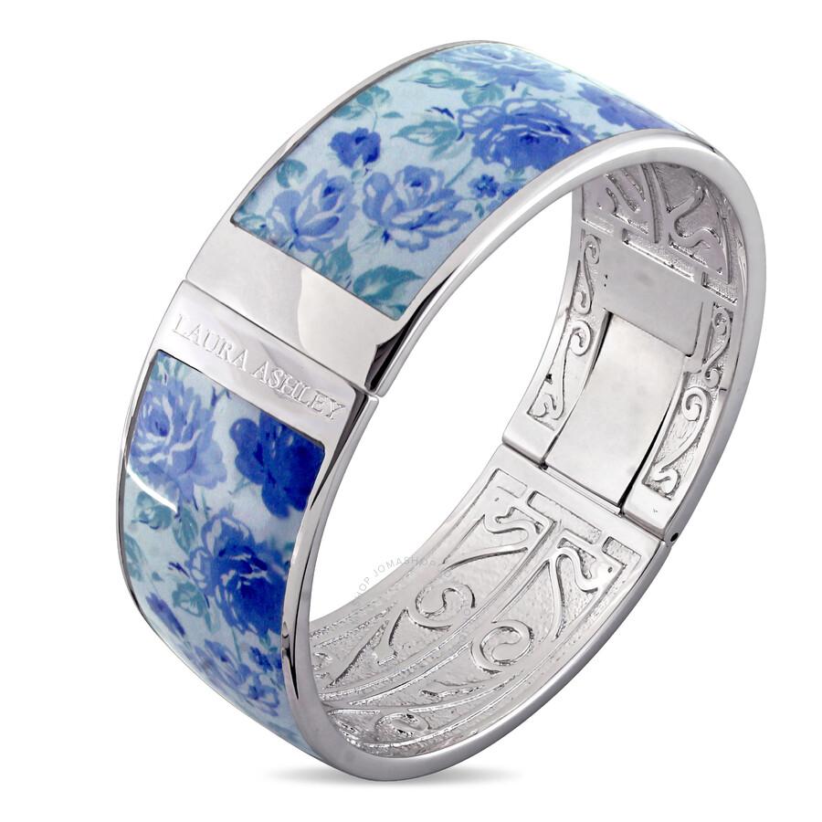 Laura Ashley Vintage Design Blue Floral Enamel Bangle JMS004106