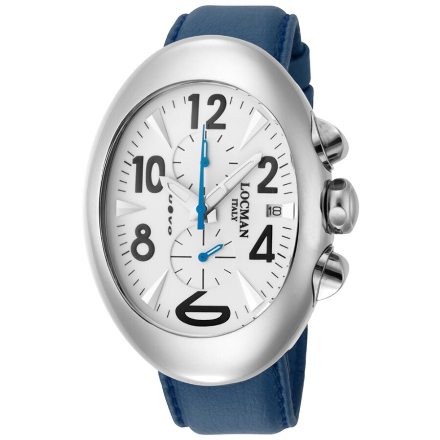 Locman Nuovo Titanio White Dial Blue Cordura Fabric Mens Watch LO-114WHSKBL
