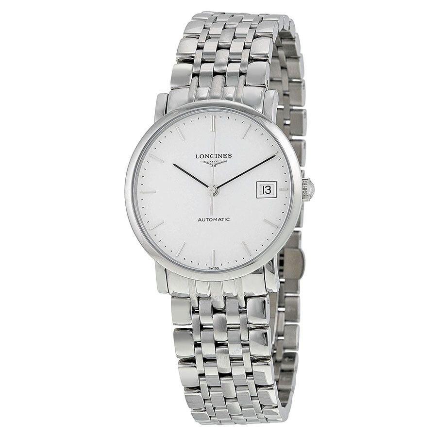 longines male longines elegant automatic white dial mens watch l48094126