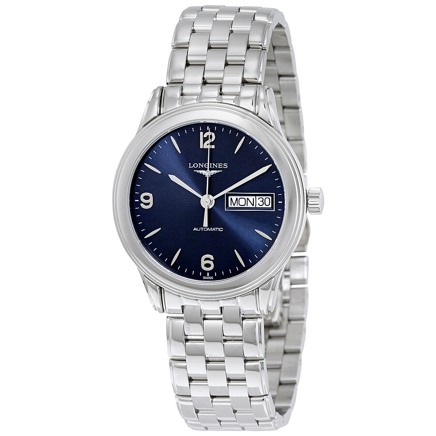 longines male longines flagship automatic blue dial mens watch l47994966