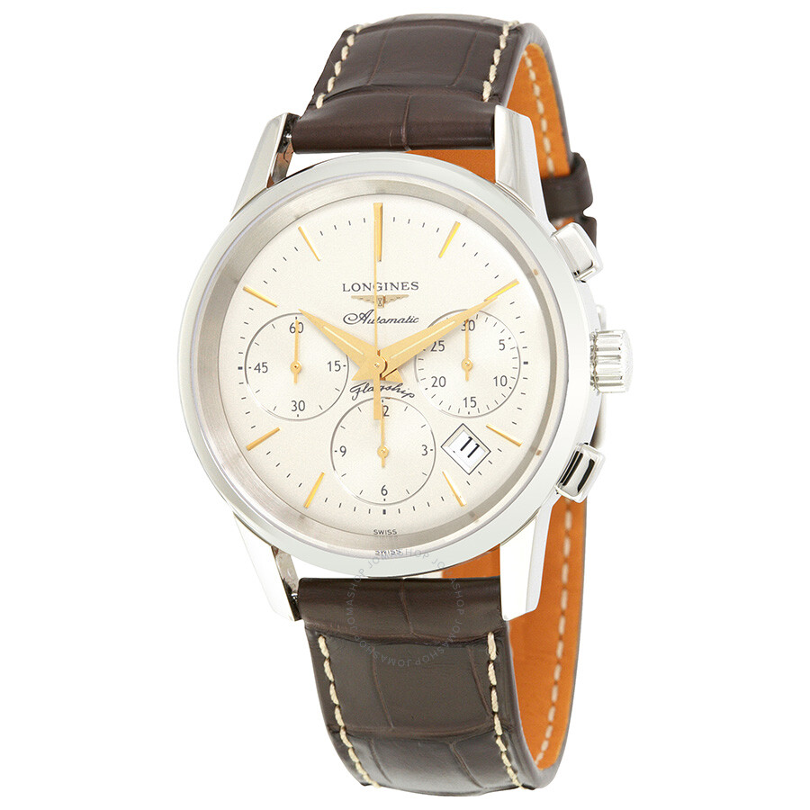 longines male longines heritage flagship chronograph automatic mens watch l47964782