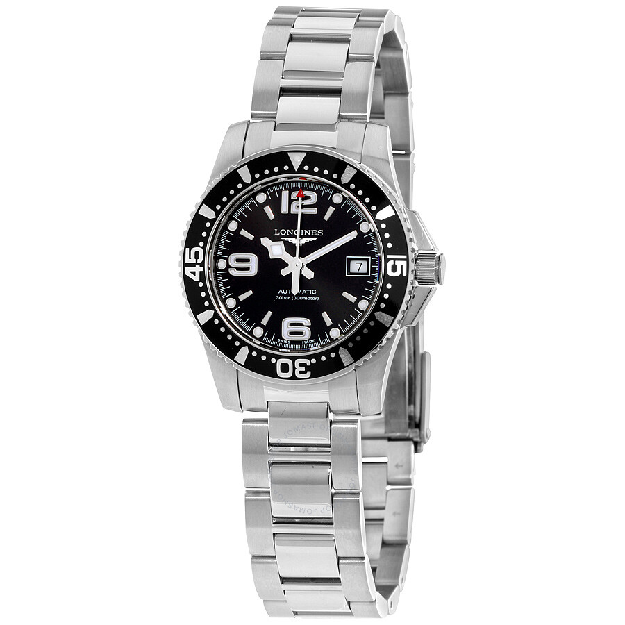 Longines HydroConquest Automatic Black Dial Ladies Watch L328445
