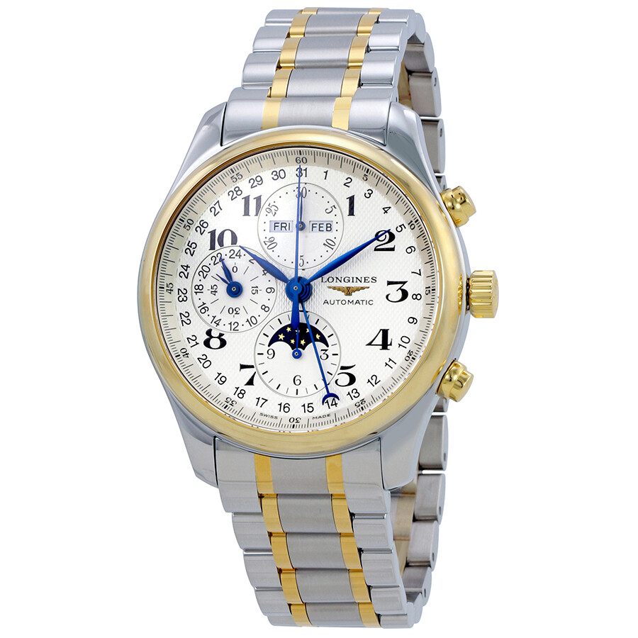 Longines Master Complications Automatic Mens Two Tone Watch L2.773.5.78.7