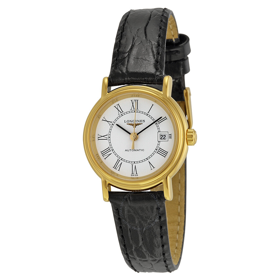 longines female longines presence automatic white dial ladies watch l43212112