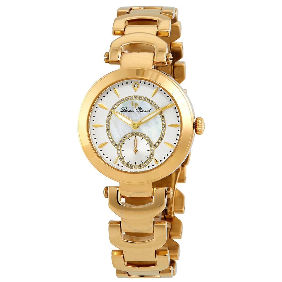 Lucien Piccard Casablanca Gold Crystal Ladies Watch LP-10268-YG-22