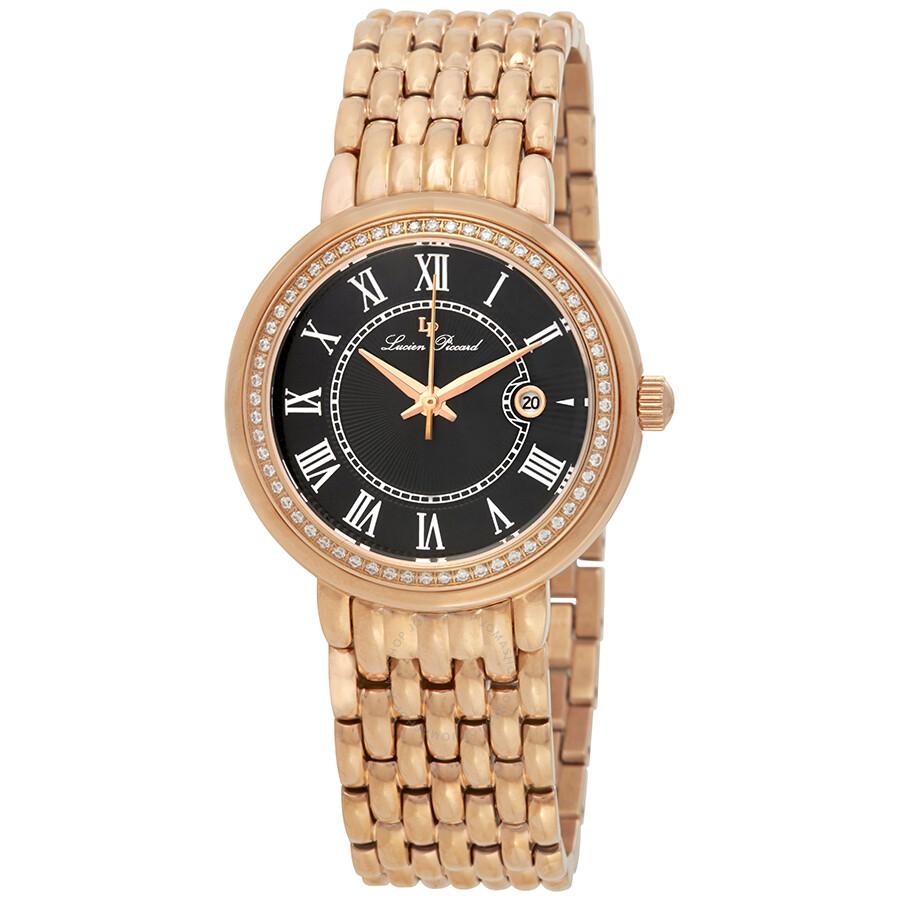 Lucien Piccard Fantasia Roman Numerals Ladies Watch 16540-RG-11