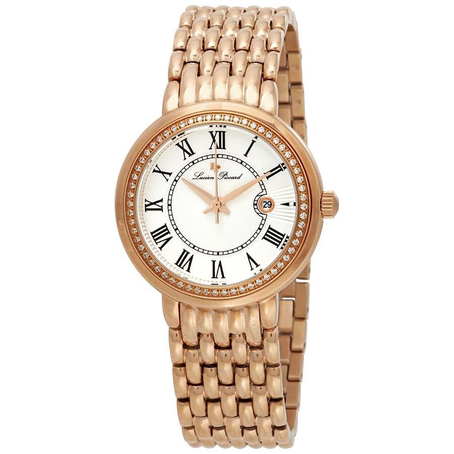 Lucien Piccard Fantasia Silver Dial Ladies Watch 16540-RG-22S