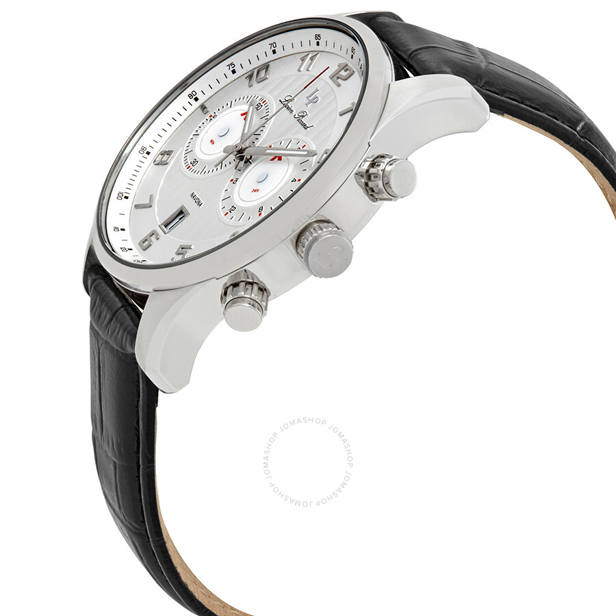 ... Lucien Piccard Navona GMT Silver Dial Men's Watch 11187-02S ...