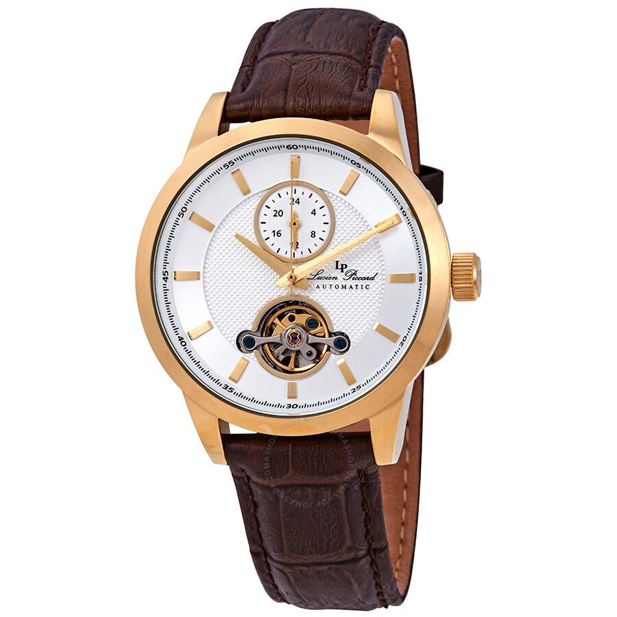 Lucien Piccard Open Heart GMT Automatic Mens Watch LP-28007A-YG-02SBRW