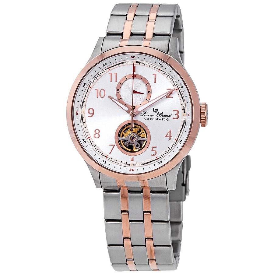 Lucien Piccard Open Heart GMT II Automatic Mens Watch LP-28010A-22S-RB