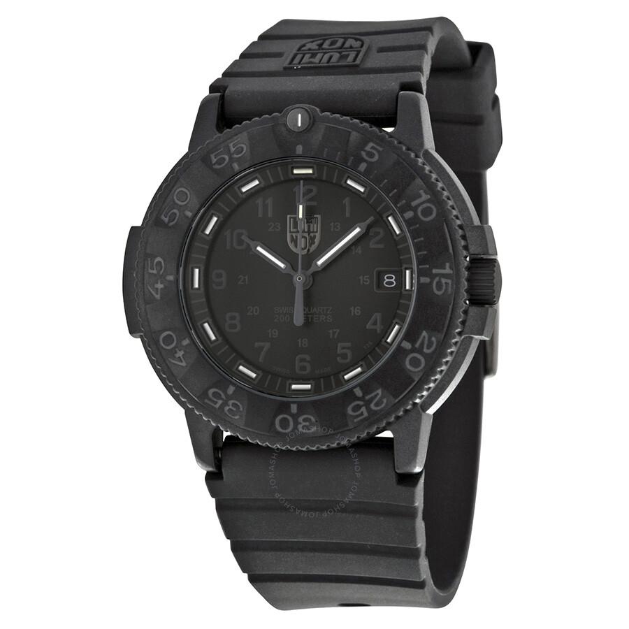 Luminox navy seal blackout black dial dive men 39 s watch 3001 bo luminox watches jomashop - Luminox navy seal dive watch ...
