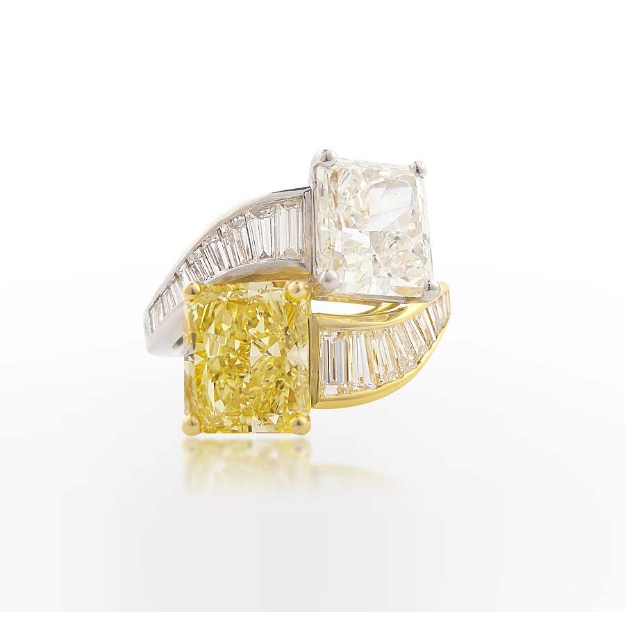 Magnificent  Radiant & Baguette Diamond Ring 10.25 CT