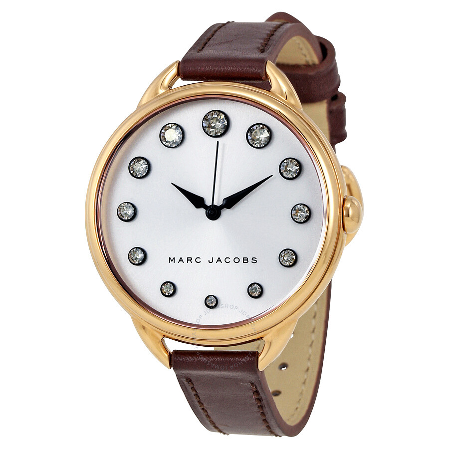 marc jacobs female marc by marc jacobs betty silver dial ladies watch mj1478