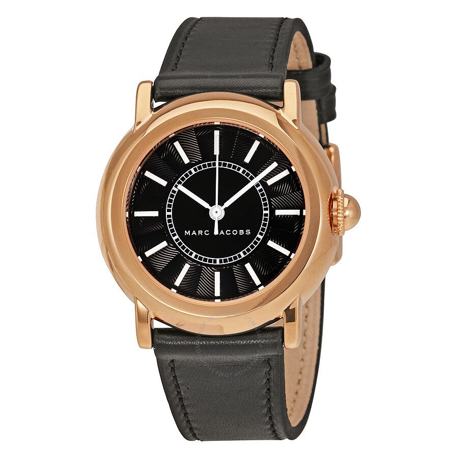 marc jacobs female marc jacobs courtney black dial ladies watch mj1509