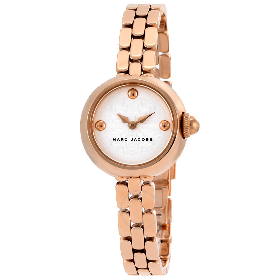 marc jacobs female marc jacobs courtney silver dial ladies rose gold watch mj3458