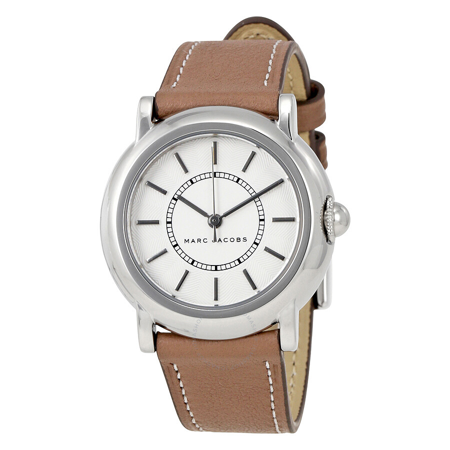 marc jacobs female marc jacobs courtney white dial ladies watch mj1507