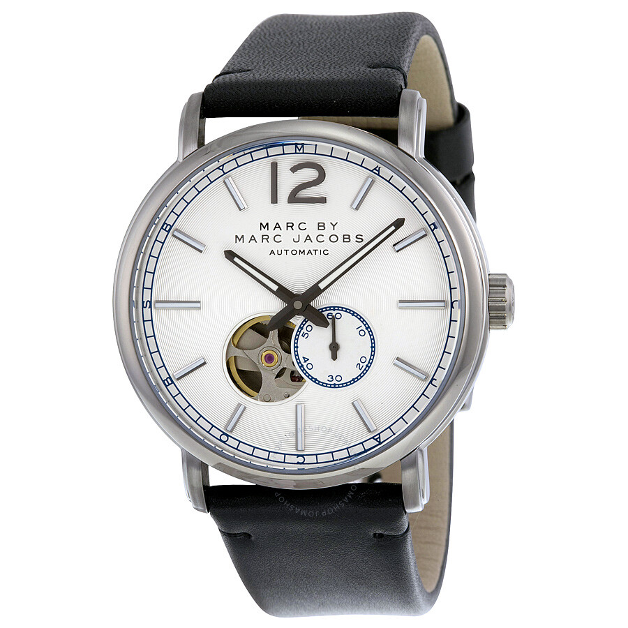 marc by marc jacobs male 45900 marc by marc jacobs fergus silver dial mens watch mbm9716