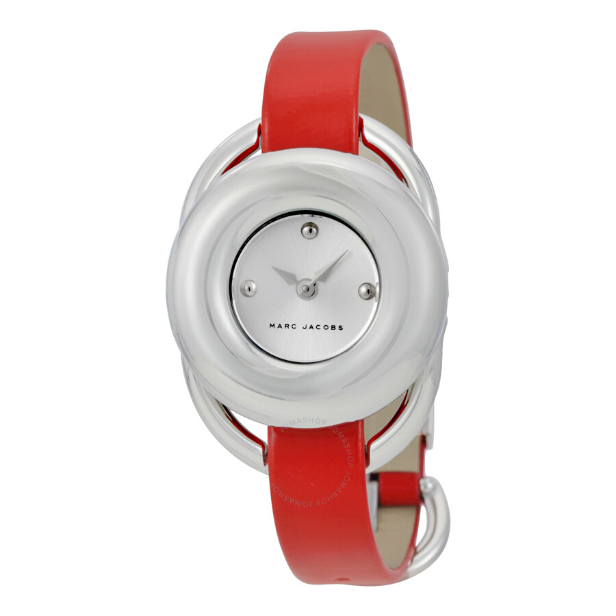 marc jacobs female marc jacobs jerrie silver dial ladies leather watch mj1444