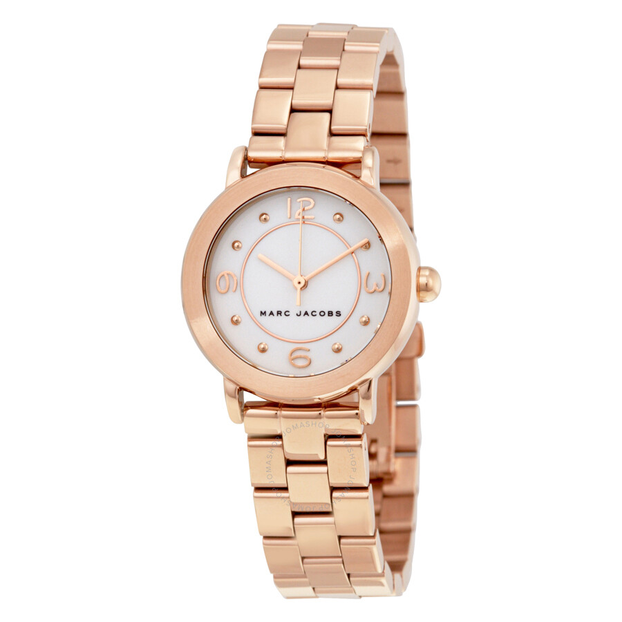 marc jacobs female marc jacobs riley white dial ladies watch mj3474