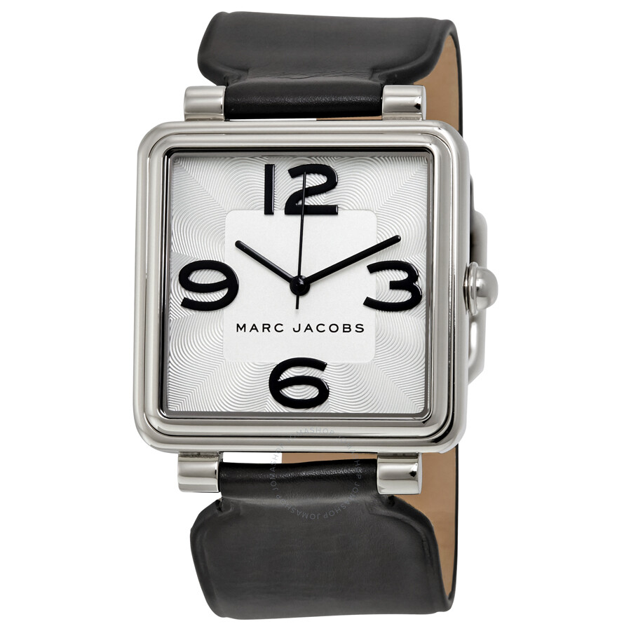 marc jacobs female marc jacobs vic silver dial black leather ladies watch mj1439