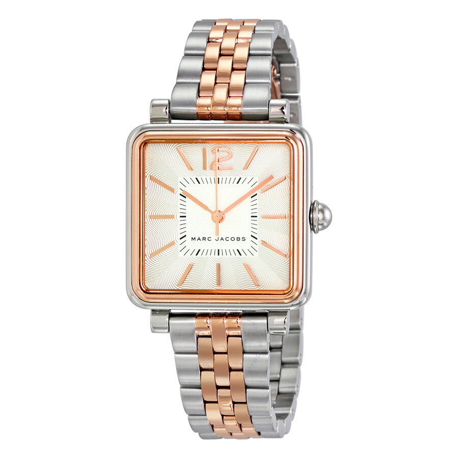 marc jacobs female marc jacobs vic silver dial ladies two tone watch mj3463