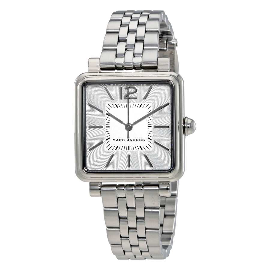 marc jacobs female marc jacobs vic silver dial ladies watch mj3461