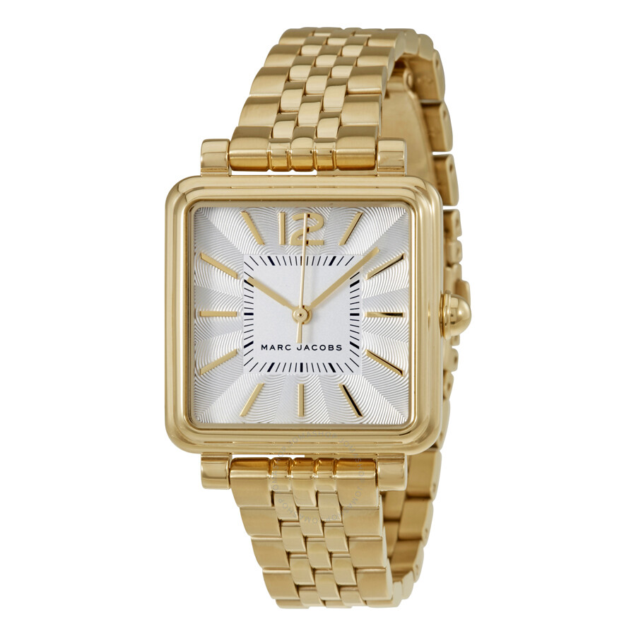 marc jacobs female marc jacobs vic silver dial ladies watch mj3462
