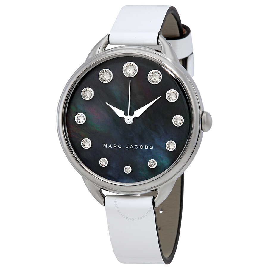 marc jacobs female marc jacobs betty black mother of pearl dial ladies watch mj1510
