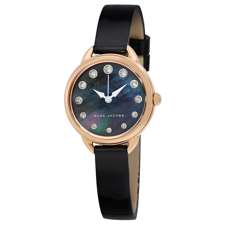 marc jacobs female marc jacobs betty black mother of pearl dial ladies watch mj1513
