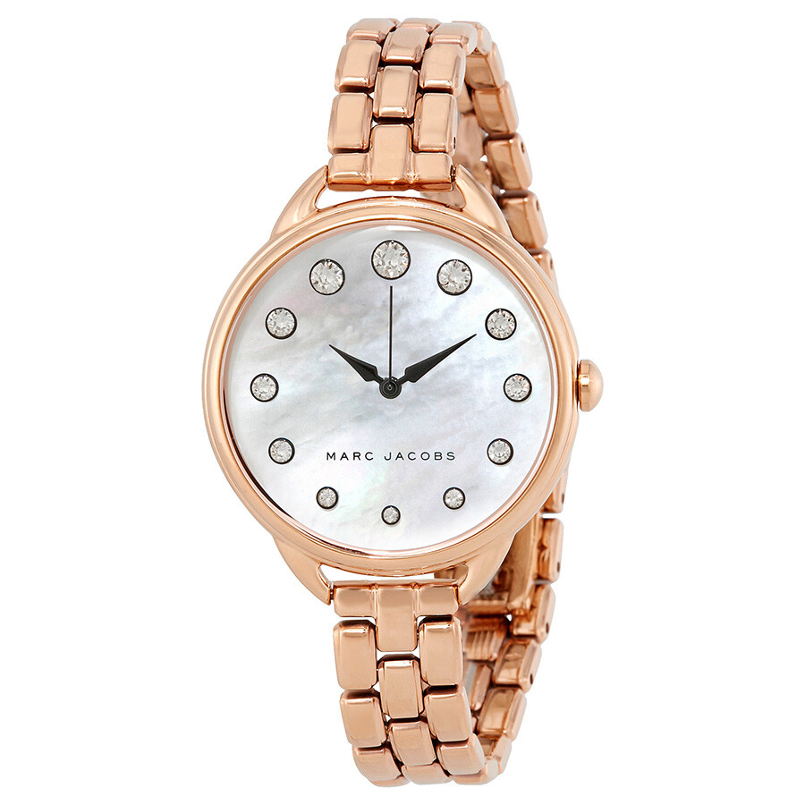 marc jacobs female marc jacobs betty mother of pearl dial ladies watch mj3515