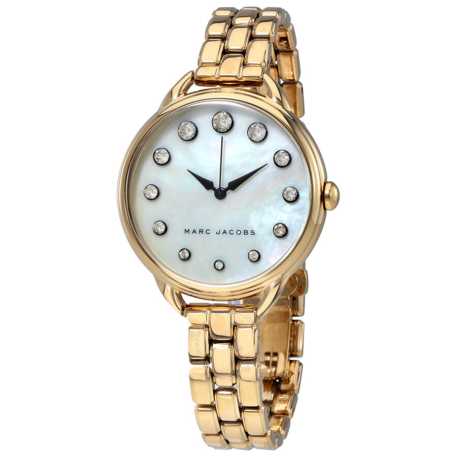 marc jacobs female marc jacobs betty white mother of pearl dial ladies watch mj3509