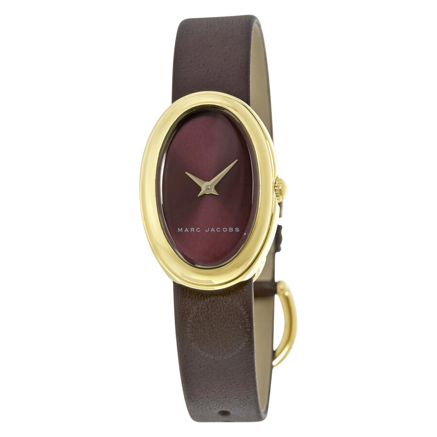 marc jacobs female 215965 marc jacobs cicely burgundy dial ladies watch mj1456