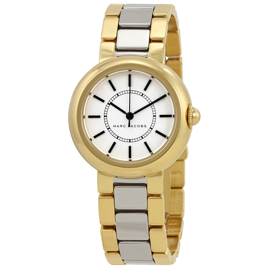 marc jacobs female marc jacobs courtney silver dial ladies two tone watch mj3506