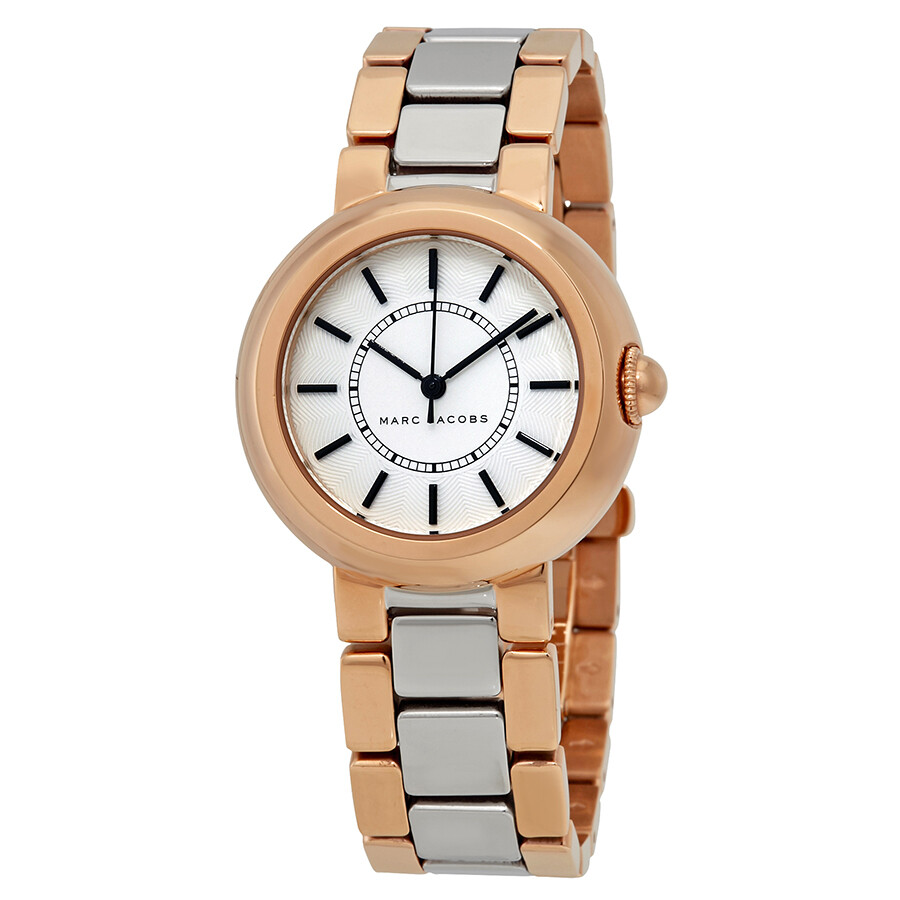 marc jacobs female marc jacobs courtney silver dial two tone ladies watch mj3507