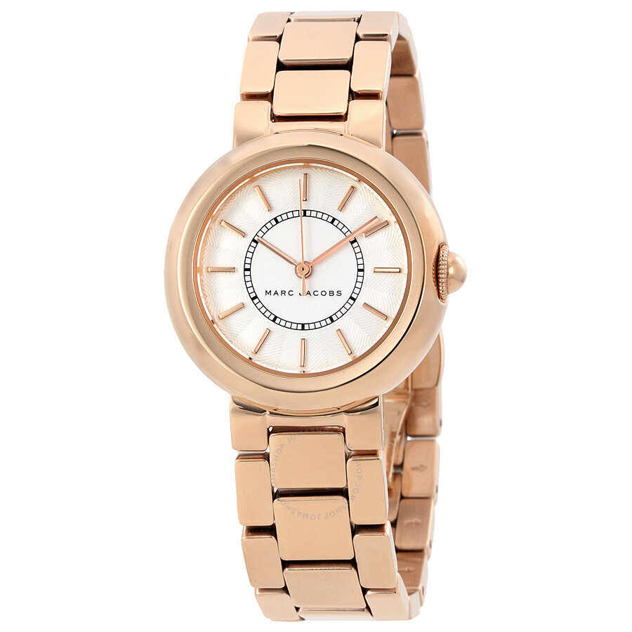 marc jacobs female 45883 marc jacobs courtney white dial ladies watch mj3466