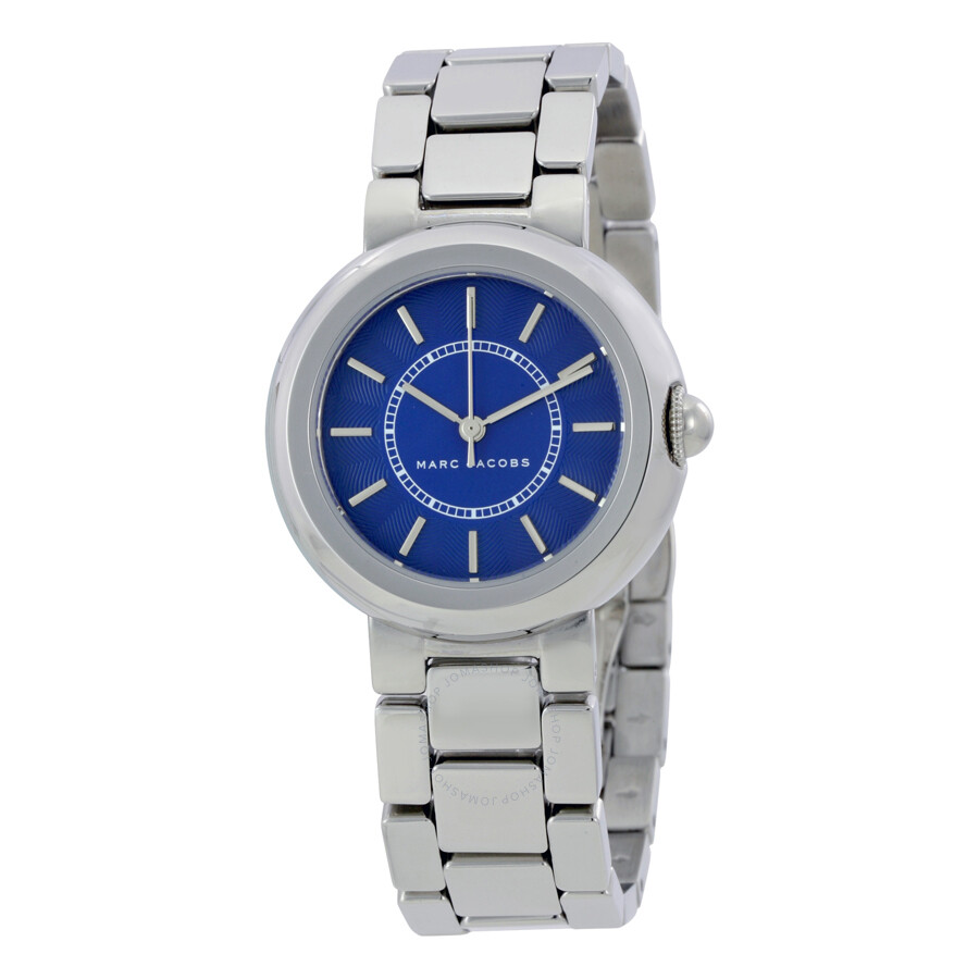 marc jacobs female marc jacobs dotty blue dial ladies watch mj3467