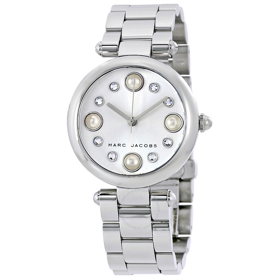 marc jacobs female 45900 marc jacobs dotty silver dial ladies watch mj3475
