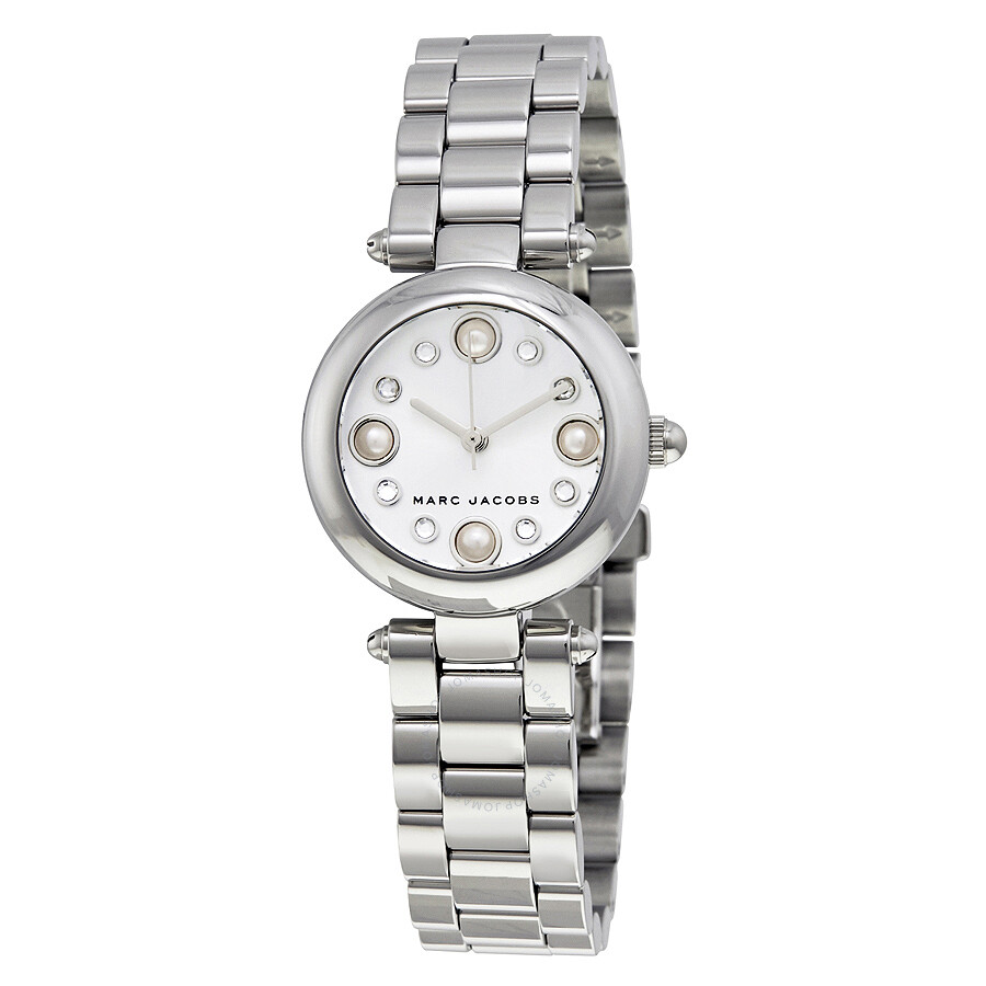marc jacobs female marc jacobs dotty silver dial ladies watch mj3476