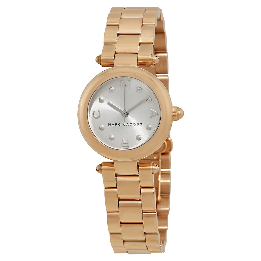 marc jacobs female marc jacobs dotty silver dial ladies watch mj3484