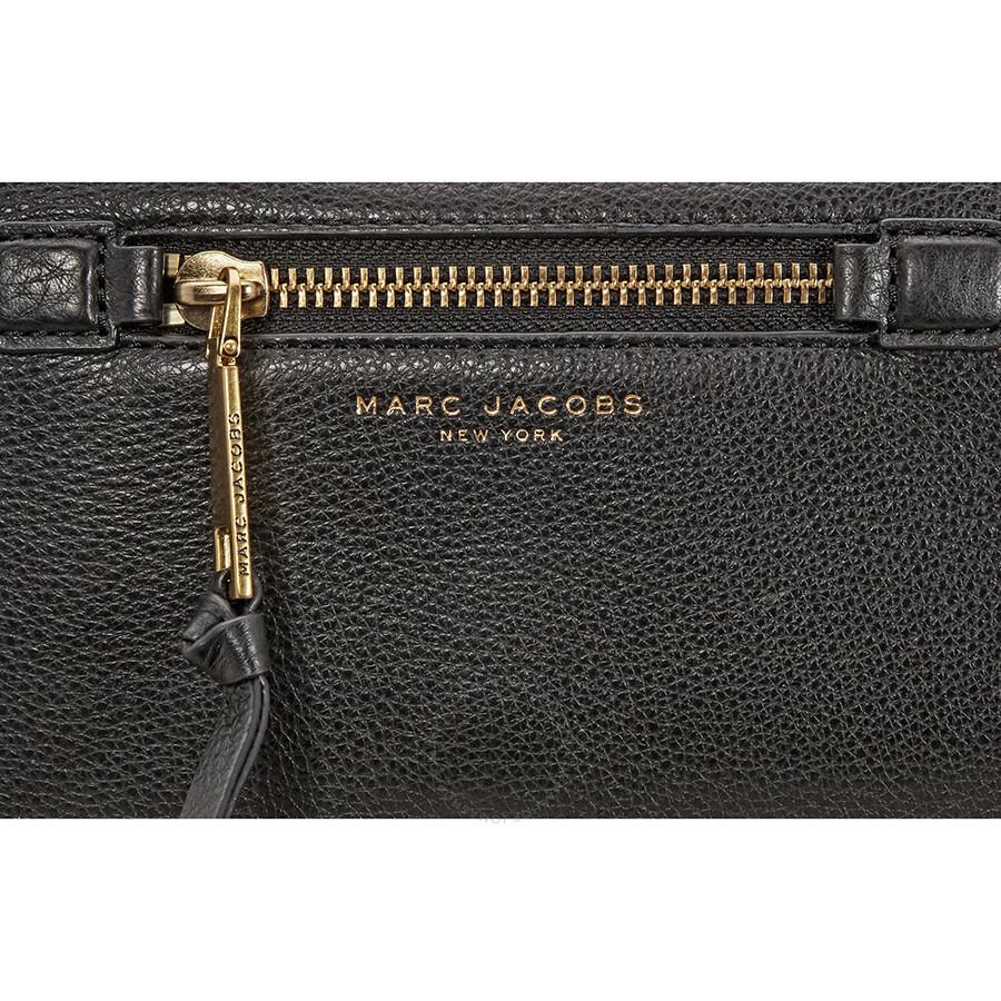 Marc Jacobs Recruit Leather Crossbody Bag Black