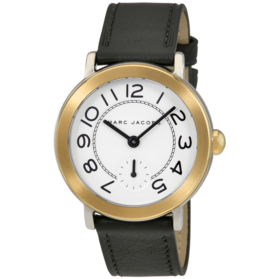 marc jacobs female marc jacobs riley silver dial ladies leather watch mj1514